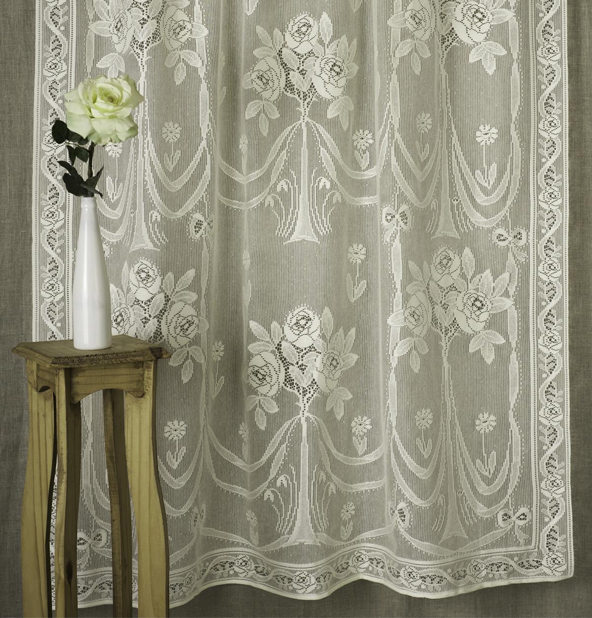 arbor rose nottingham lace curtain