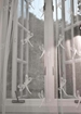 Damselfly Madras Lace  Curtain and Yardage - MD12412-Swatch-White