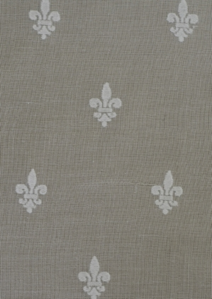 Fleur de Lys Vertical Madras Lace Curtain &  Yardage