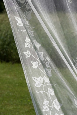 Ivy Trellis Nottingham Lace Curtain and Yardage