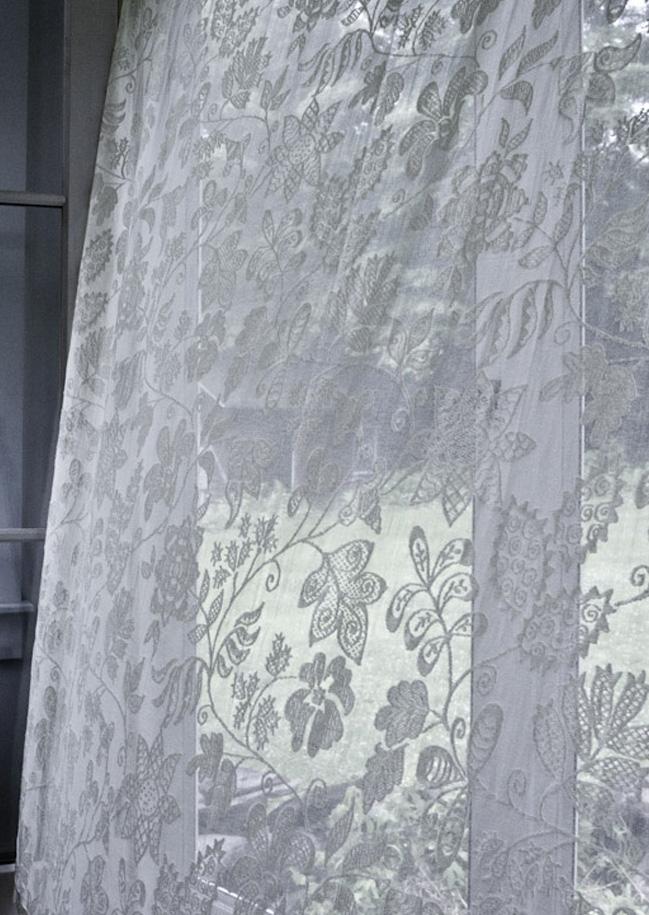 Jacobean Madras Lace Curtain Yardage