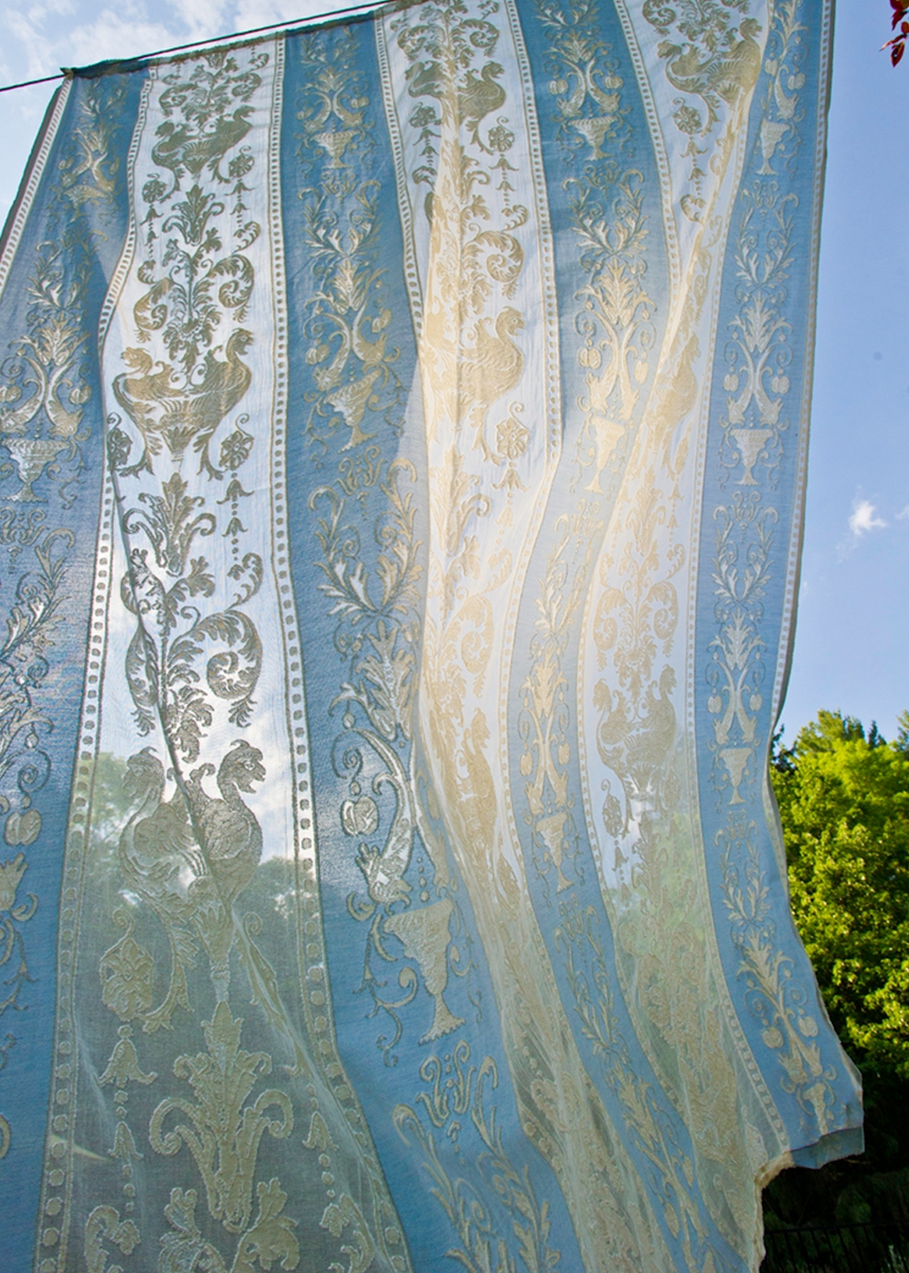 Khaleesi Madras lace curtain