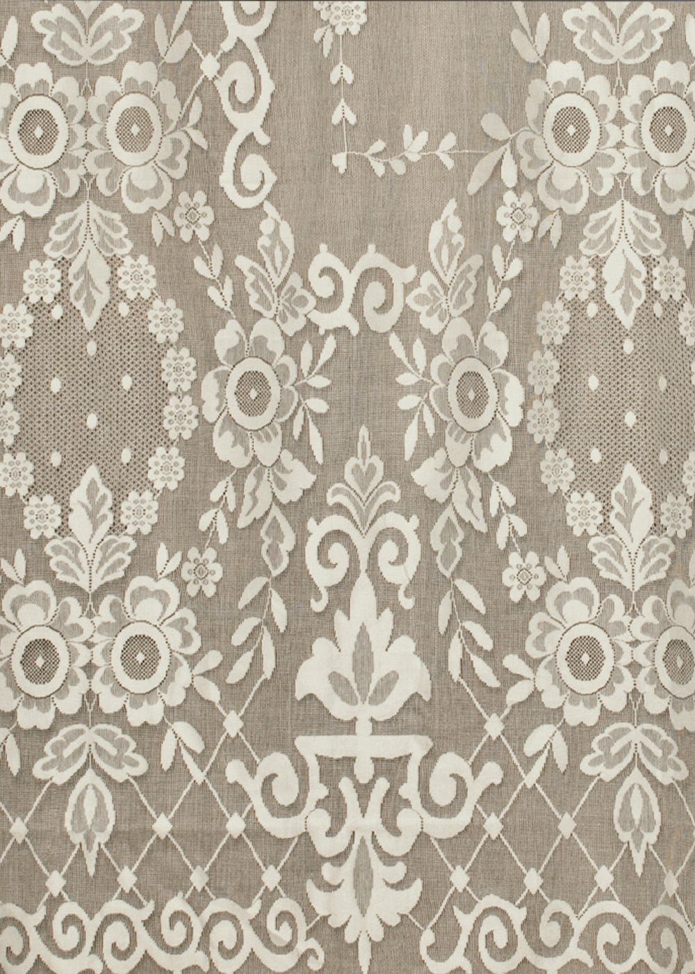 Cotton lace curtains - Norfolk Nottingham Lace Curtain