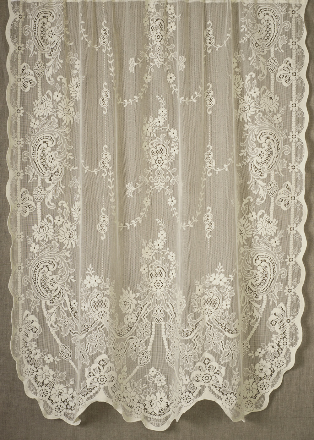 Window curtains design lace panel curtains with attached valance - London Lace Valances And Cafe Curtains Specializing In The