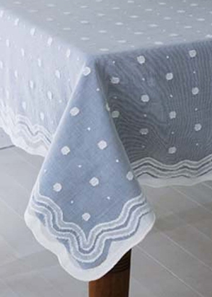 Spring Rain Madras Lace Tablecloths, Runners