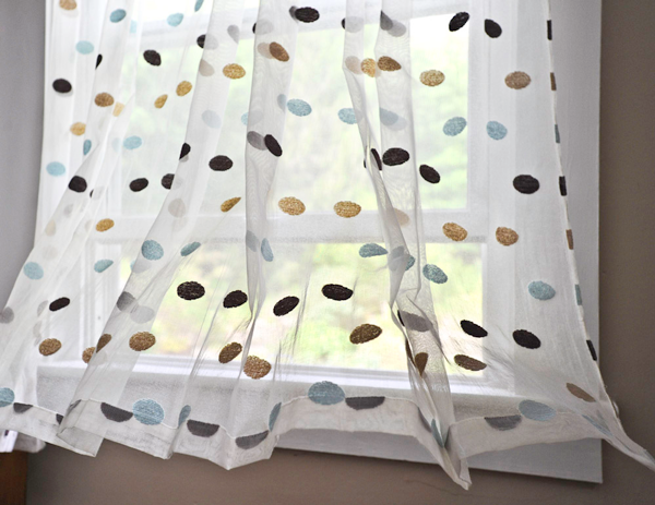 Large Dot Madras Lace Curtain and Yardage
