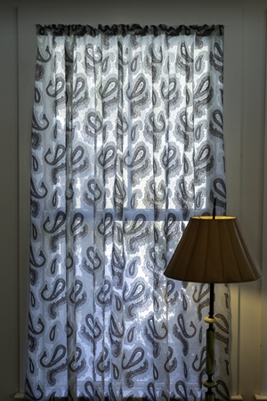 Blue Paisley Scottish, Lace, eclectic,modern,madras, curtain, paisley, window coverings,,