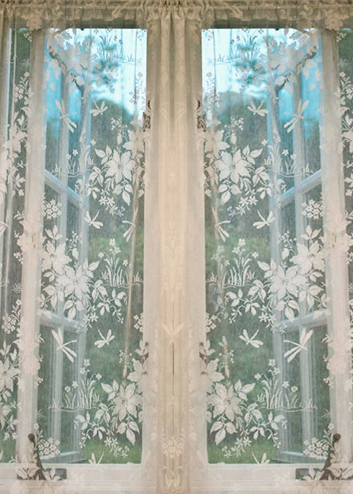 Dragonfly Nottingham Lace Curtain Amp Yardage Direct From